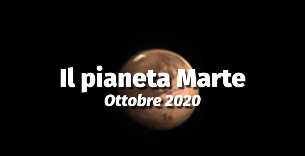 Presentazione attività per opposizione del pianeta Marte - Ottobre 2020