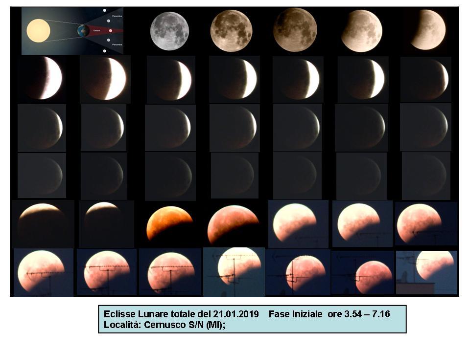 Eclisse Totale di Luna Fase Iniziale