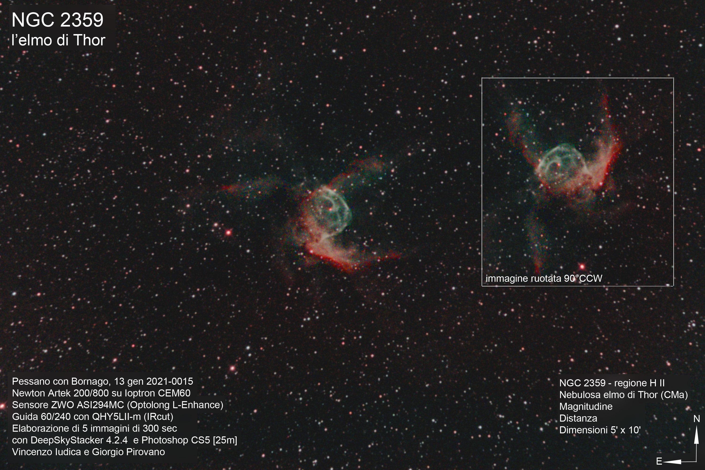 <p>Nebulosa ad emissione, regione H II nella costellazione del Cane maggiore.</p>